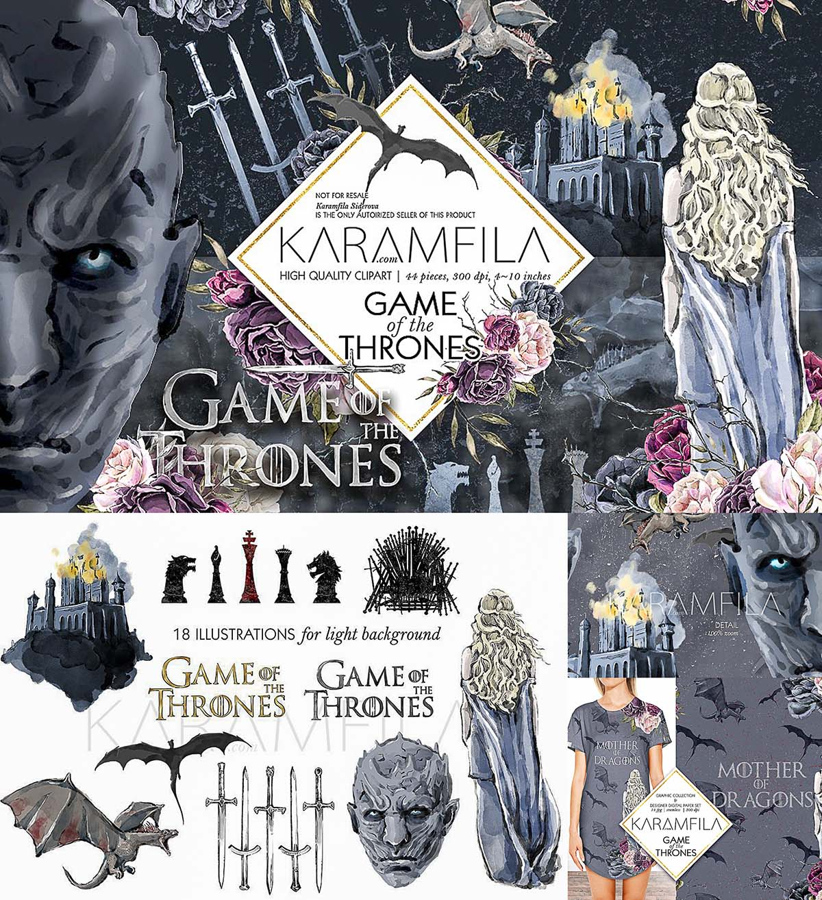 Game Of Thrones clipart set.