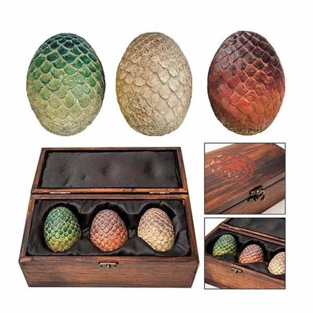 Game of Thrones Dragon Egg Candles Set of 3 Sculpted.