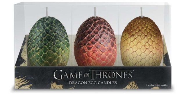 Game of Thrones: Sculpted Dragon Egg Candles.