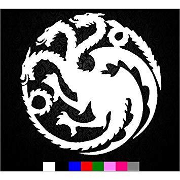 Game of Thrones House Targaryen Khaleesi Dragons Logo Vinyl Sticker Decal  HBO for Car Truck Mac (5.5\
