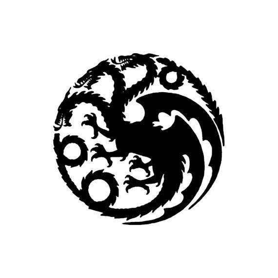 House Targaryen Dragon Logo, Game of Thrones.