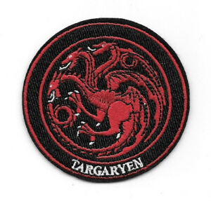 Details about Game of Thrones House Targaryen Dragon Sigil Logo Embroidered  Patch, NEW UNUSED.