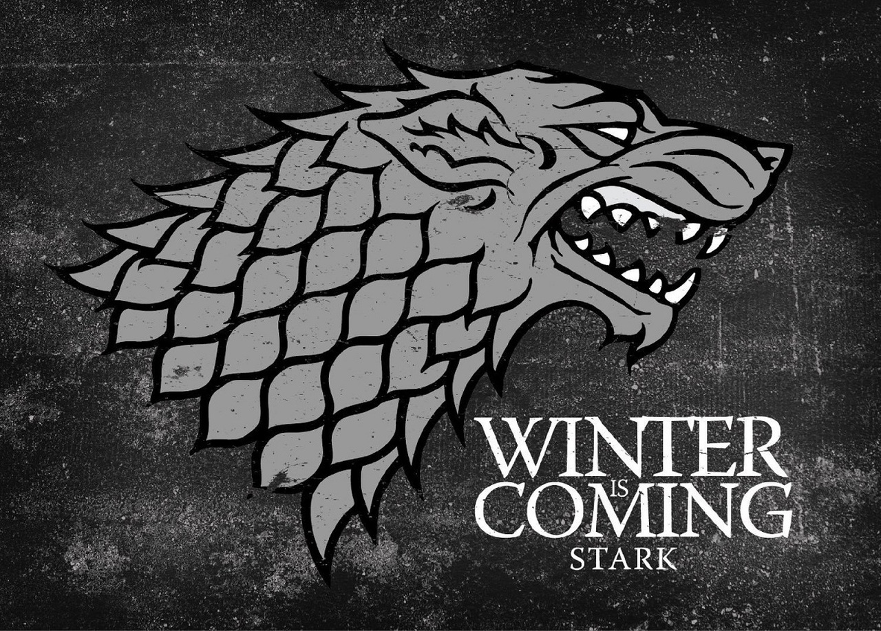 Game of Thrones Winter is Coming Stark Logo Giclee.