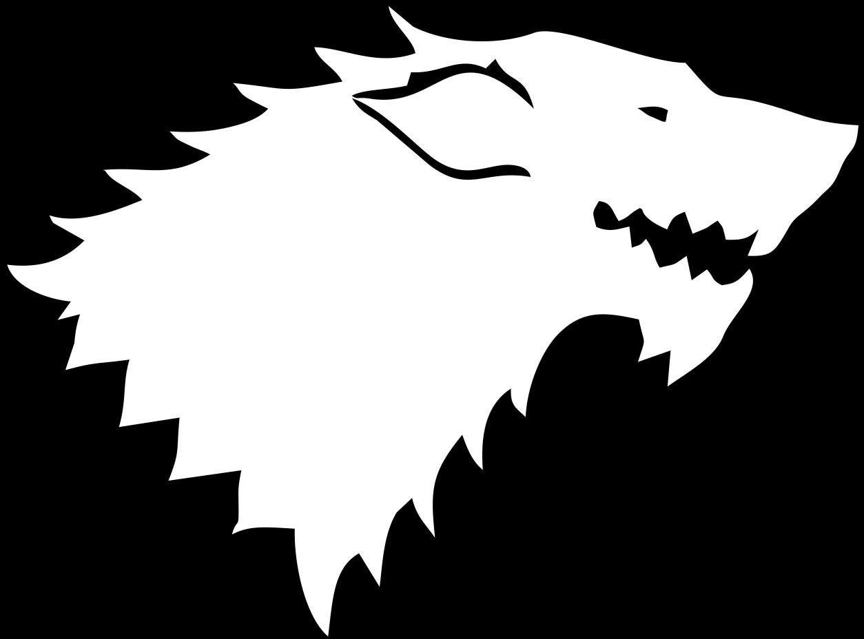 House Stark Logo, Game of Thrones.