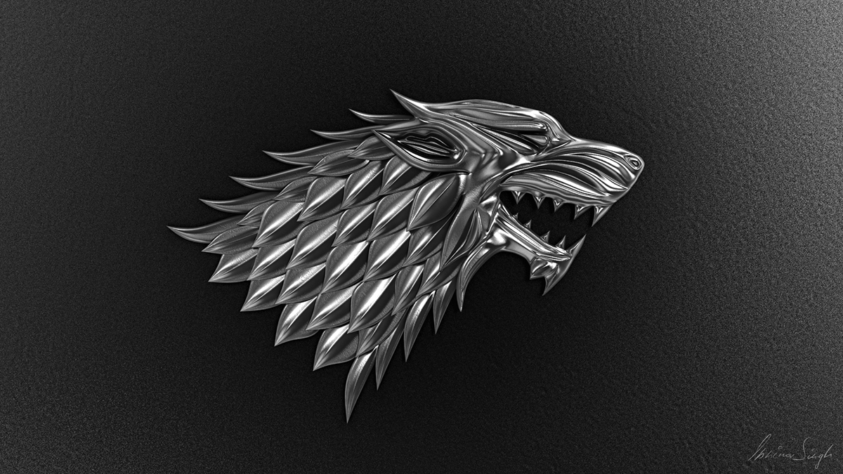 game of thrones ..WINTER IS COMING wolf logo on Behance.