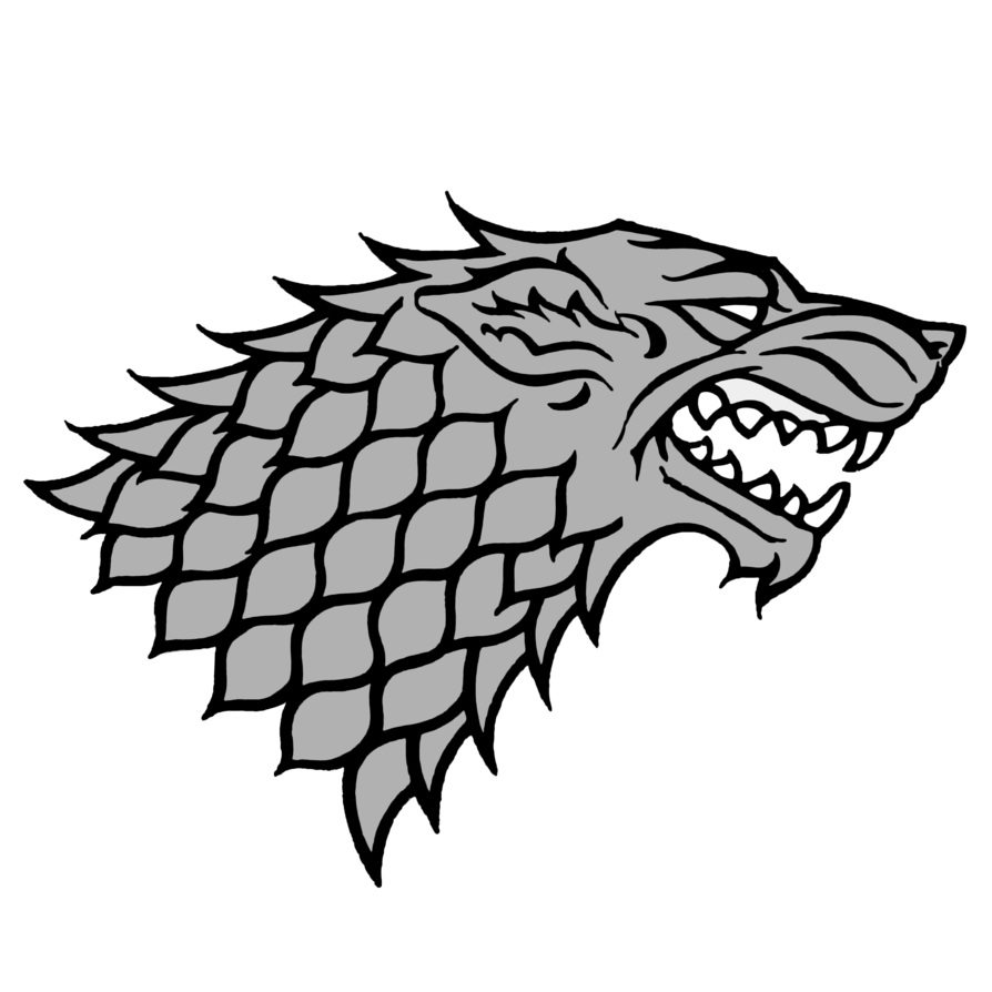 Game of thrones wolf Logos.