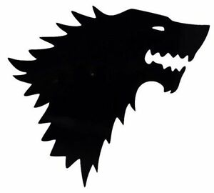 Details about House Stark Wolf Game of Thrones Car Truck Window Vinyl Decal  Sticker 12 COLORS.