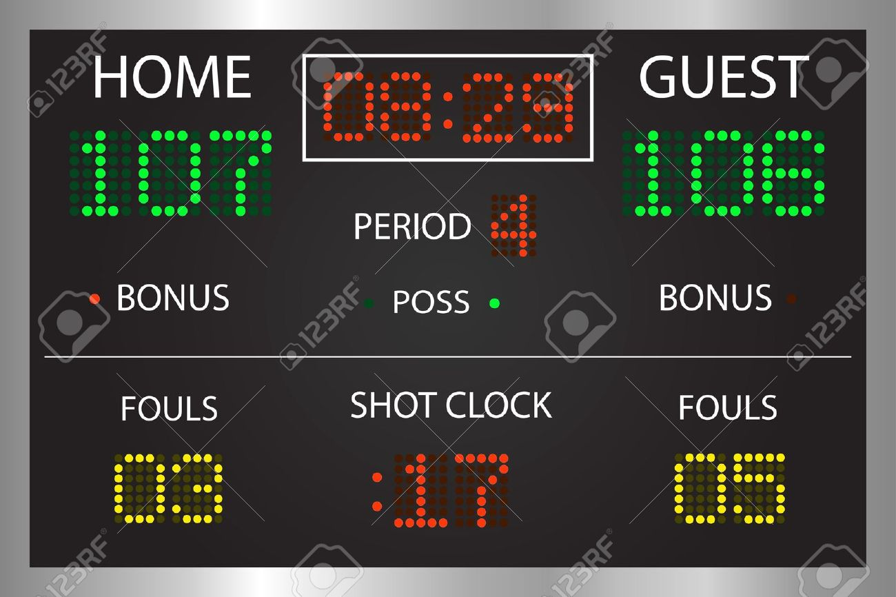 Game On Scoreboard Clipart.