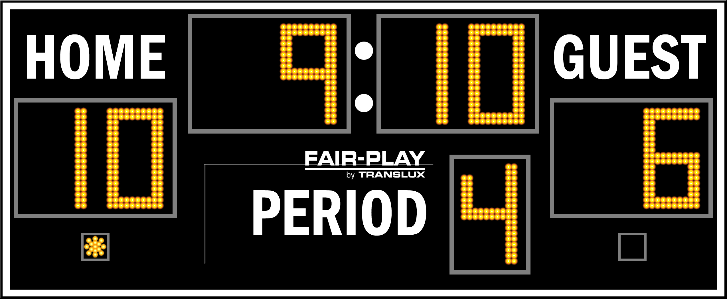 First Half Of A Football Game Scoreboard Clipart.