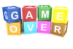 Toy Block Game Over Phrase Stock Photos, Images, & Pictures.