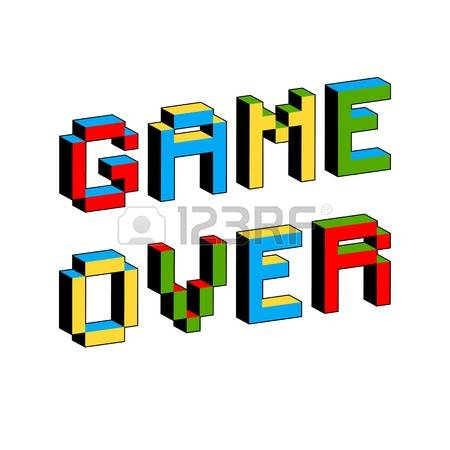 473 Game Over Text Stock Illustrations, Cliparts And Royalty Free.