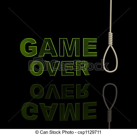 Clipart of Game over.