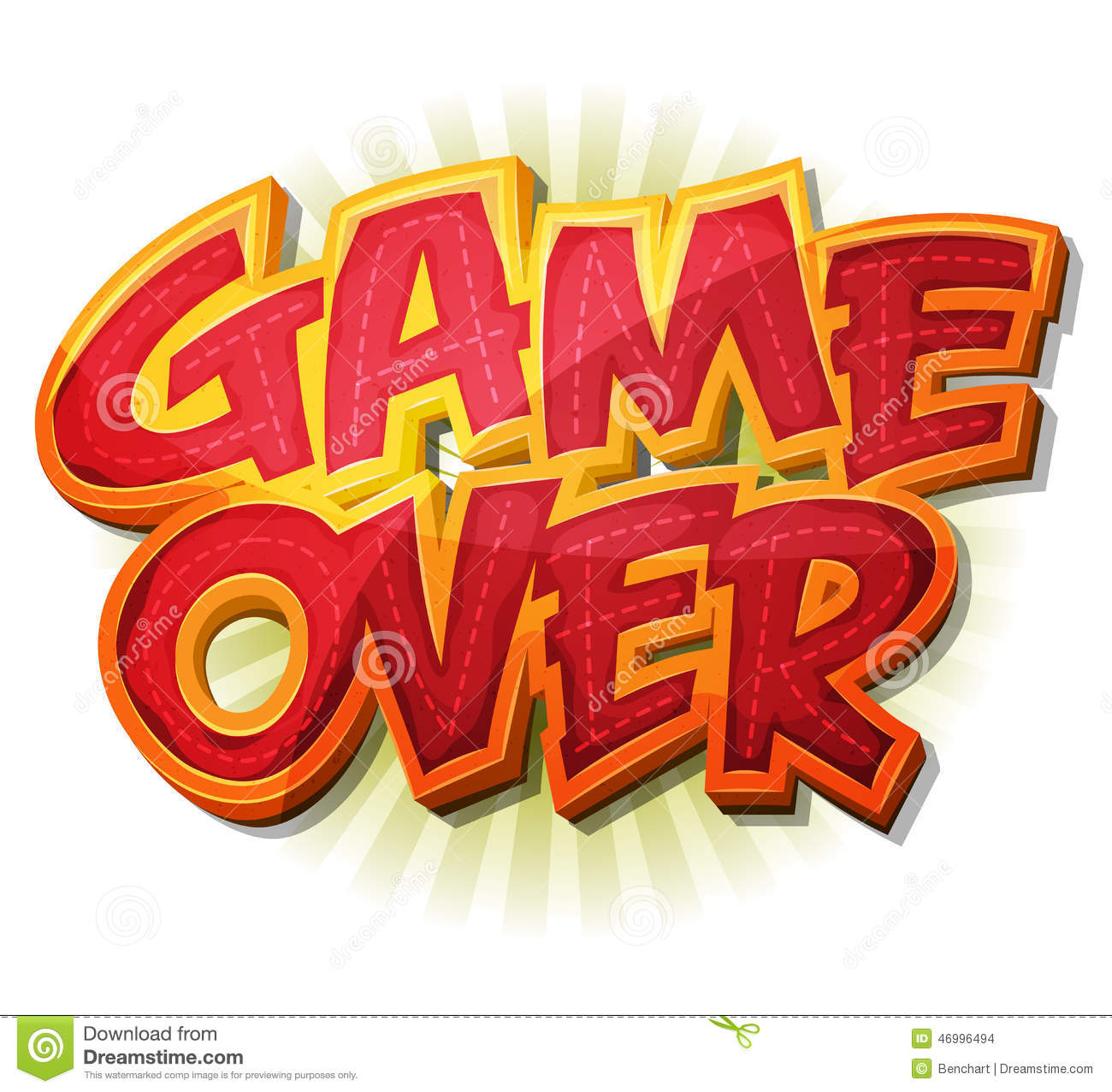 Game Over Stock Images.