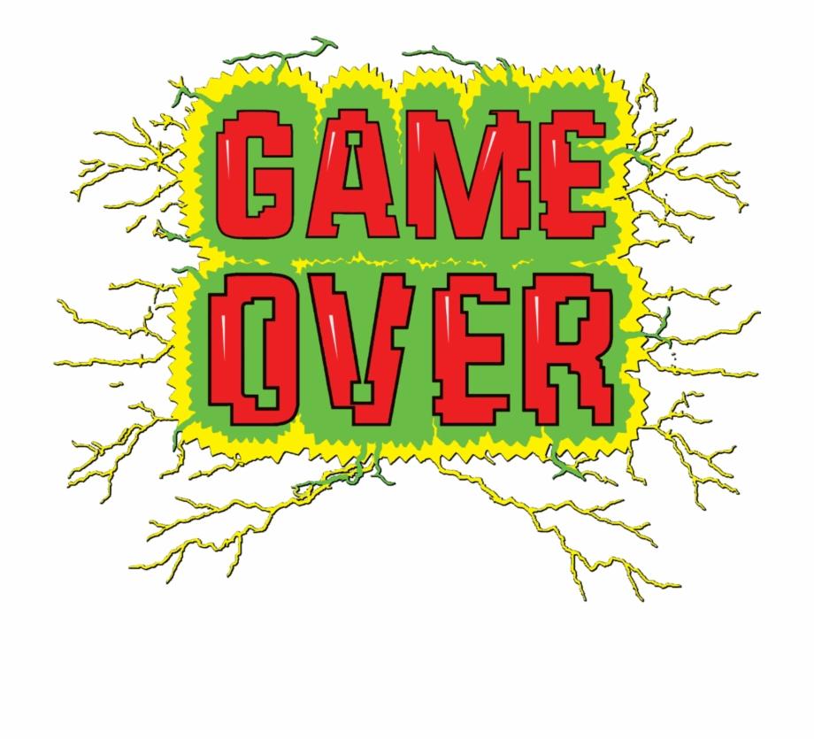 Game Over Transparent Graphic Design.