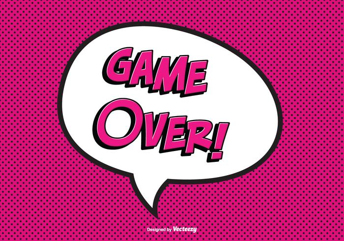 Comic Game Over Vector Illustration.