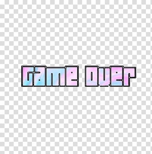 Game Over text screenshot transparent background PNG clipart.