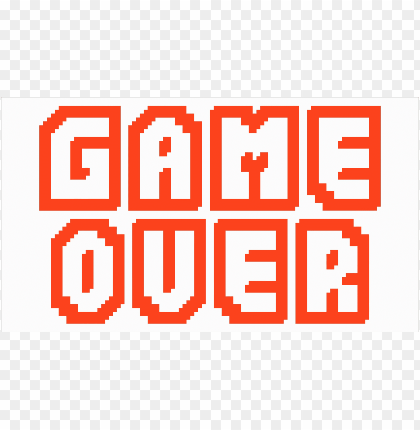 game over PNG image with transparent background.