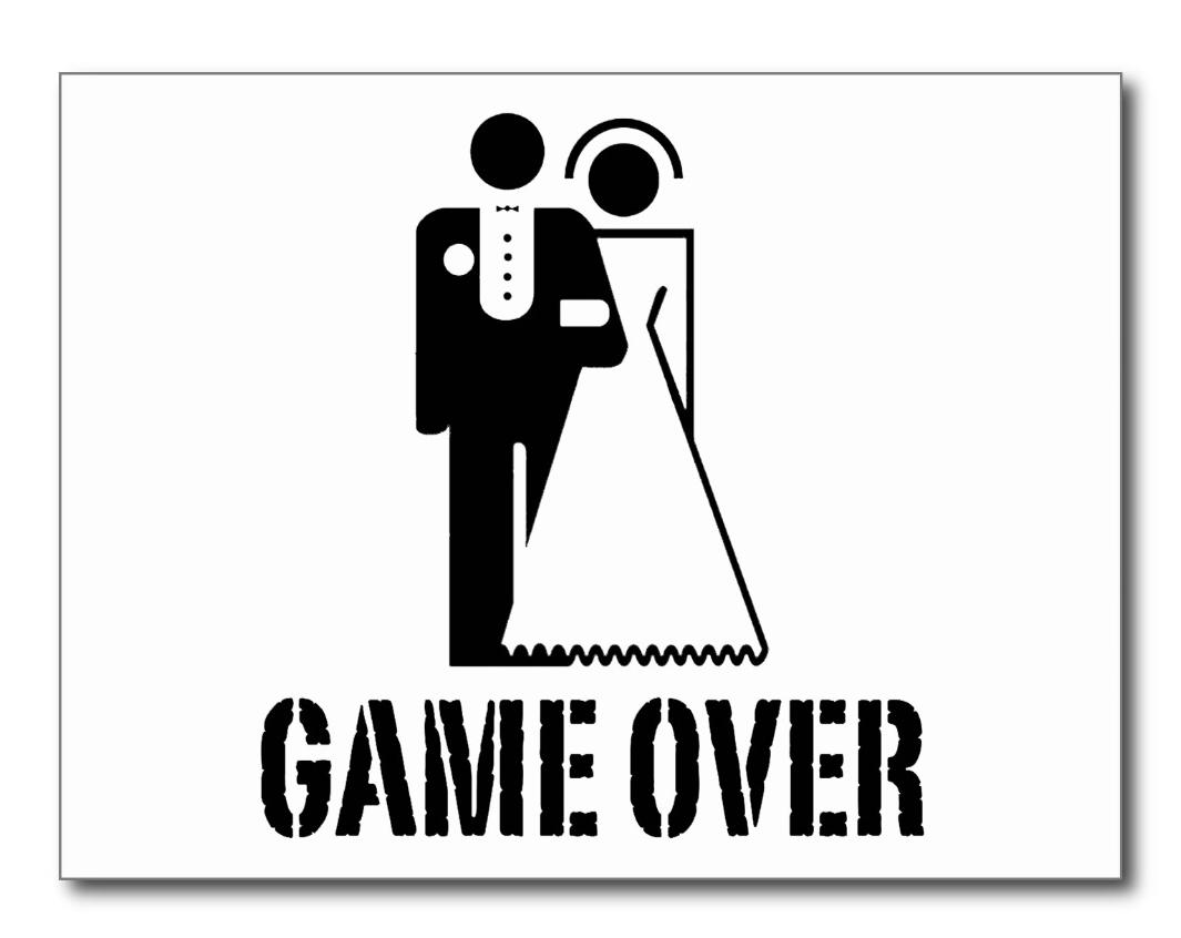 Game Over Wedding Bride Groom: guglielmo.