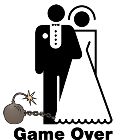 Game Over Wedding Clipart.