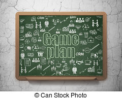 Chalkboard with text game plan Stock Illustration Images. 5.