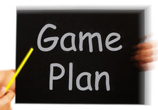 Game Plan Message Means Strategies Tactics Stock Illustrations.