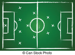 Clipart Vector of Teamwork Football Game Plan Strategy on.