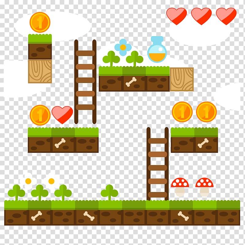 Game application screenshot, Tetris Super Mario Bros. Wii.