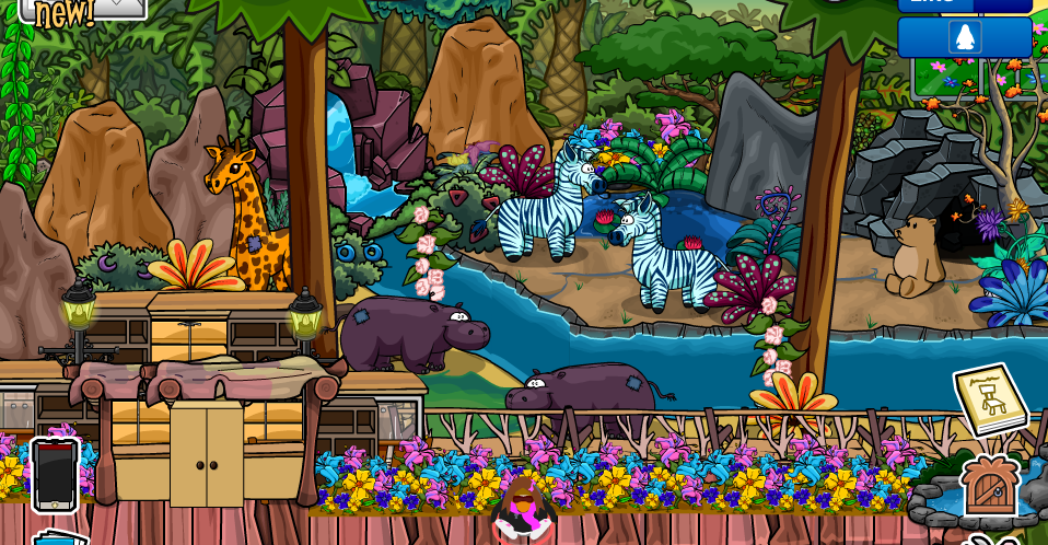 Club Penguin Igloo Ideas: Verde Sal's Jungle Themed Igloo Contest.