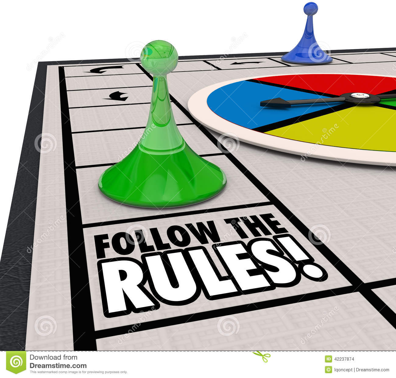 Game rules clipart.