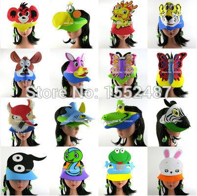 20pcs/lot,Animal headdress,Cartoon hat,EVA animal hat ,party.