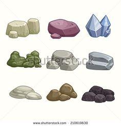 stone cracks vector.