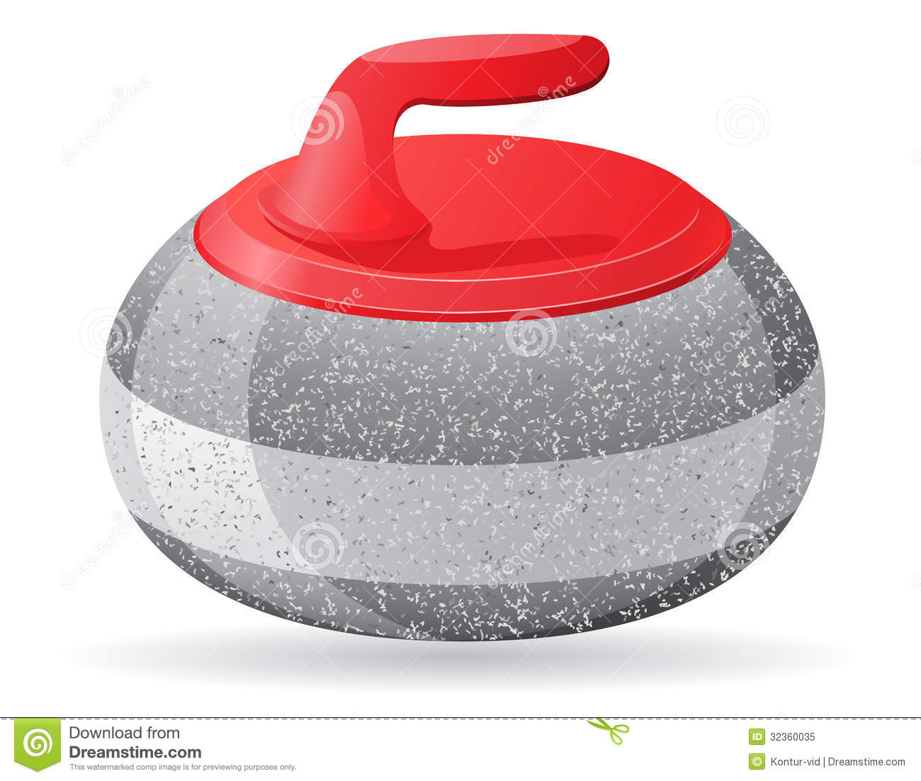 Free clipart curling stone.