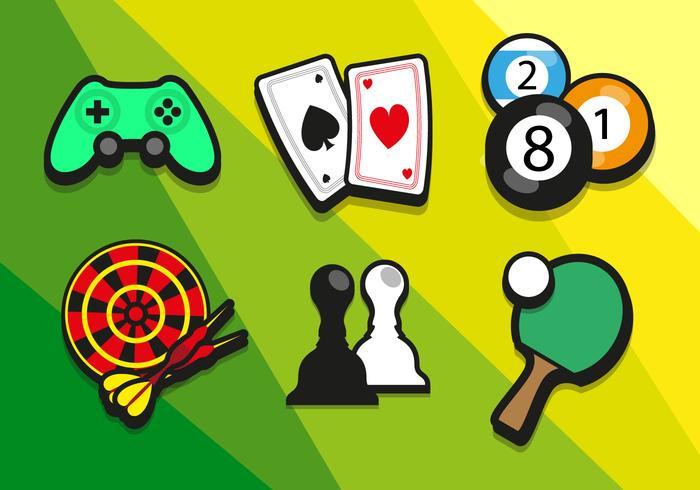 Game Colorful Illustrations Vector.