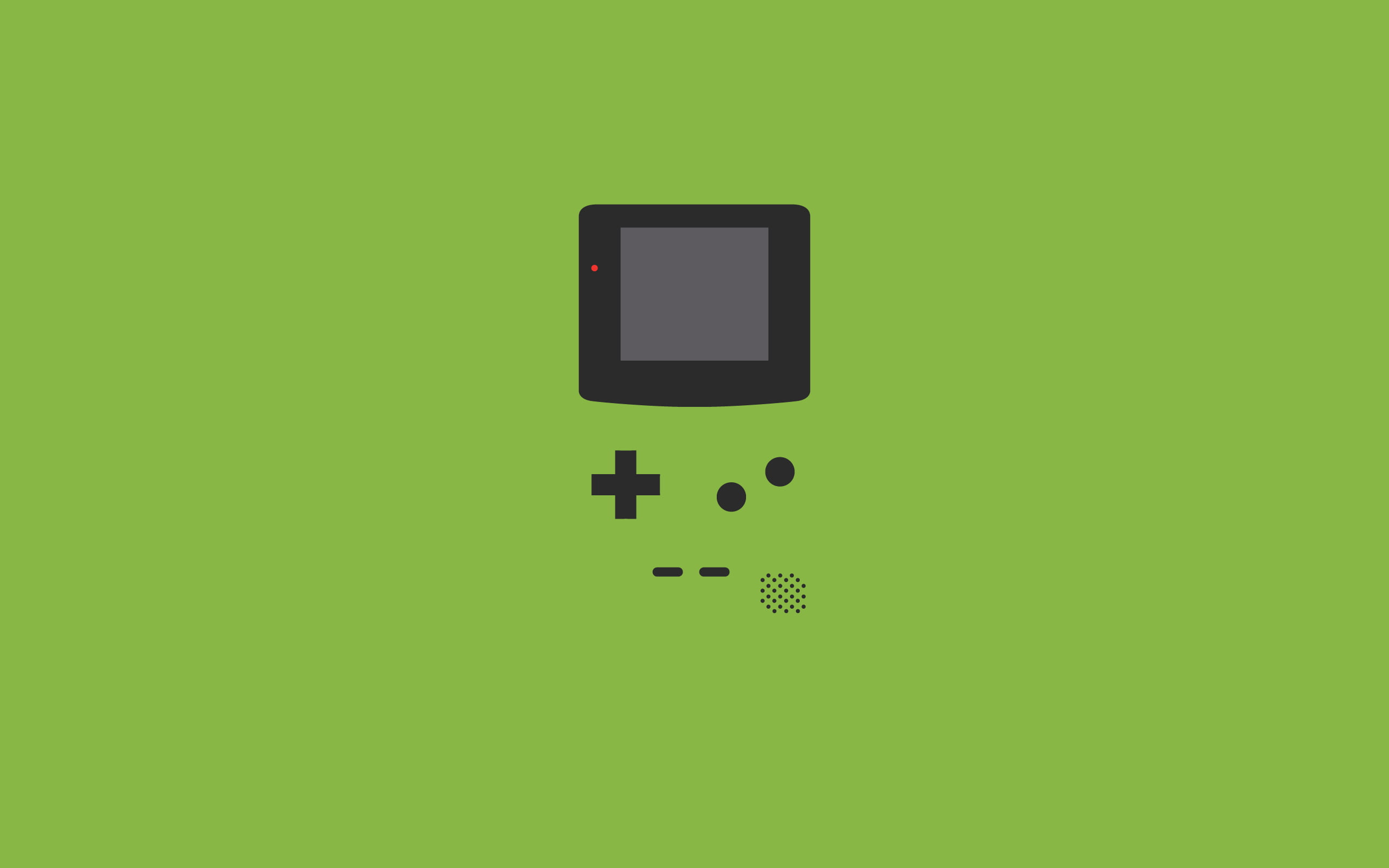 Black and green game logo, minimalism, GameBoy Color HD.