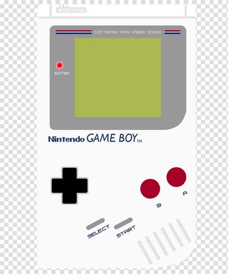 Gameboy Shell, classic Nintendo Game Boy transparent.