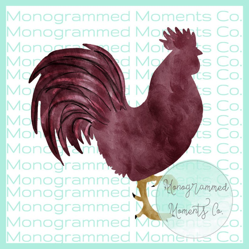 Watercolor Gamecock Clipart.