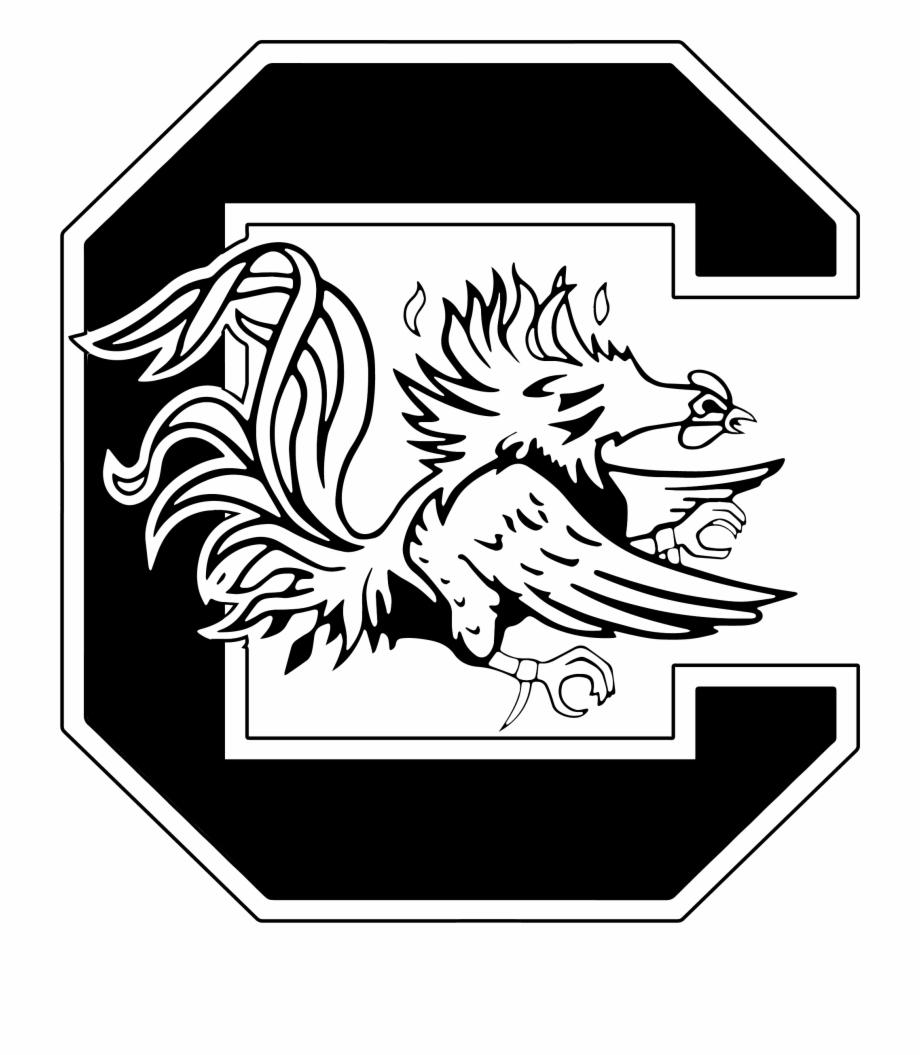 South Carolina Gamecocks Logo Blackandwhite Firstbeat.