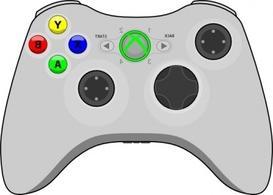 Gamecube Gamepad clip art Free Vector.