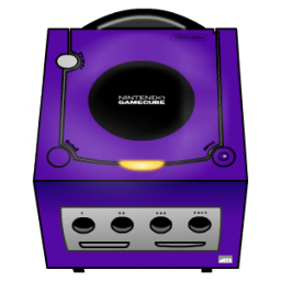 Purple GameCube Icon, PNG ClipArt Image.