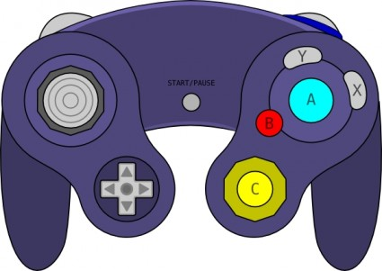 Gamecube controller clipart.