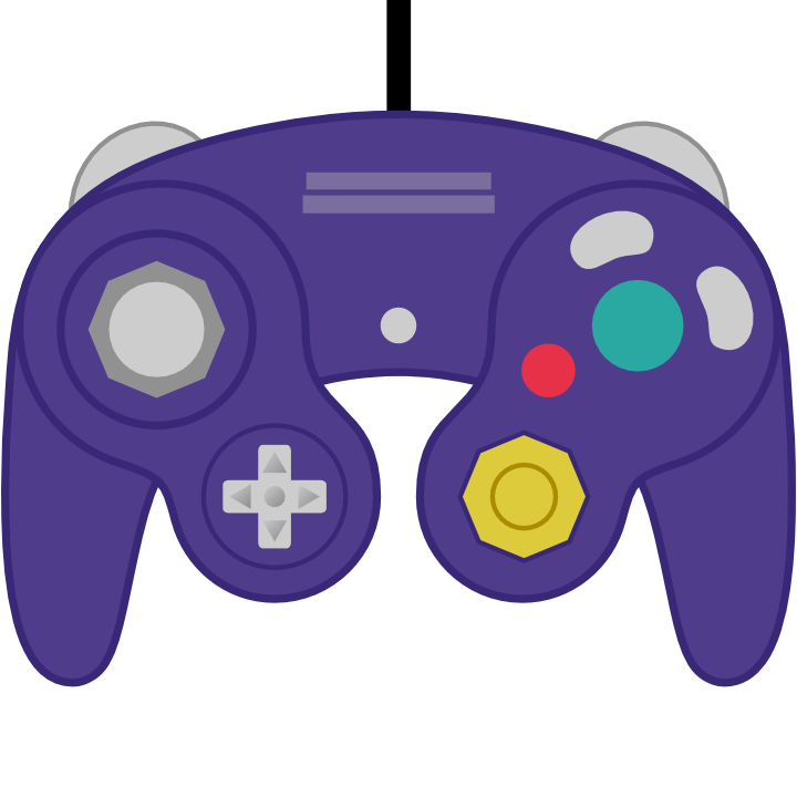Game cube controller clipart.