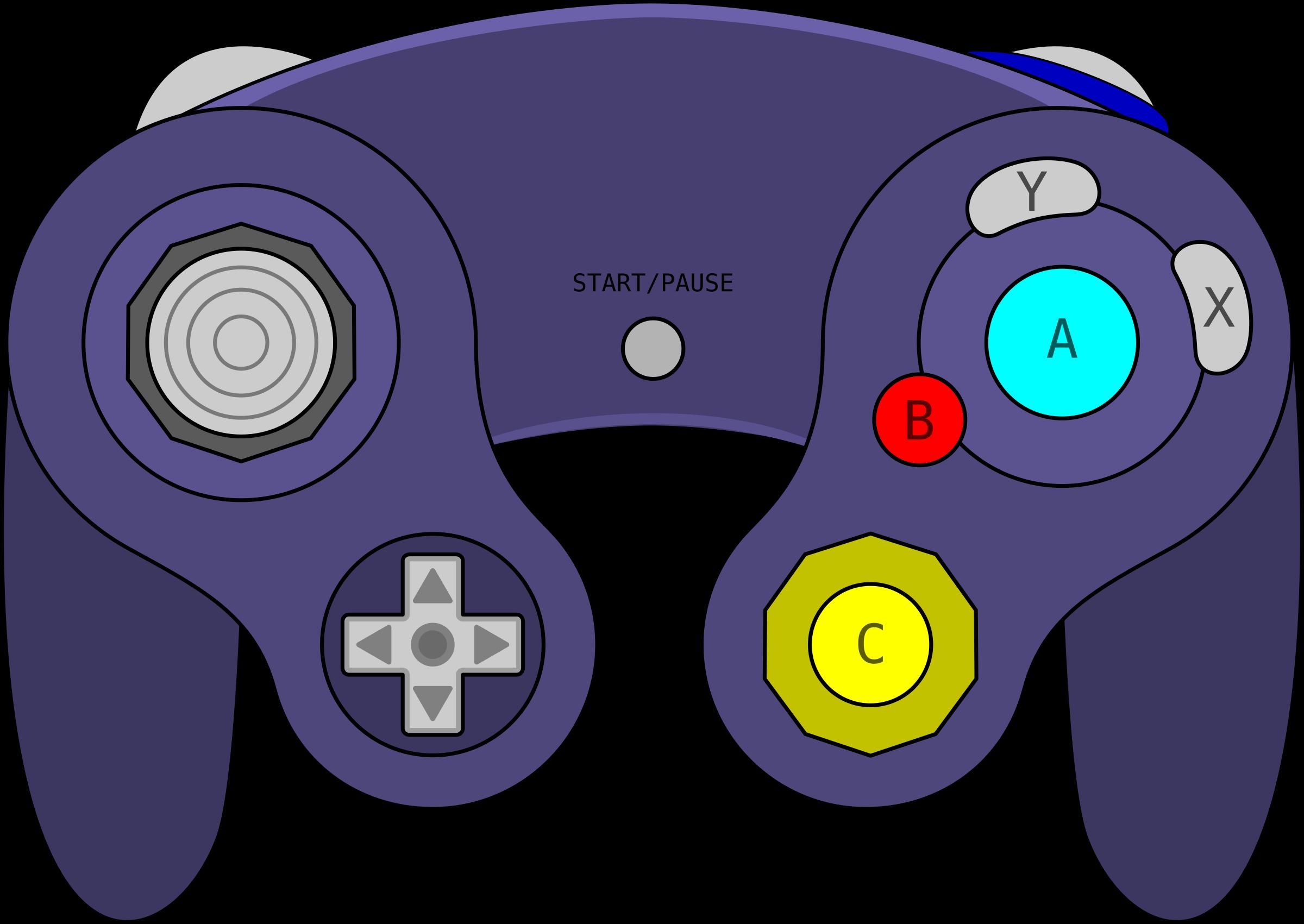 Download Free Vector Gamecube Gamepad Clip Art.
