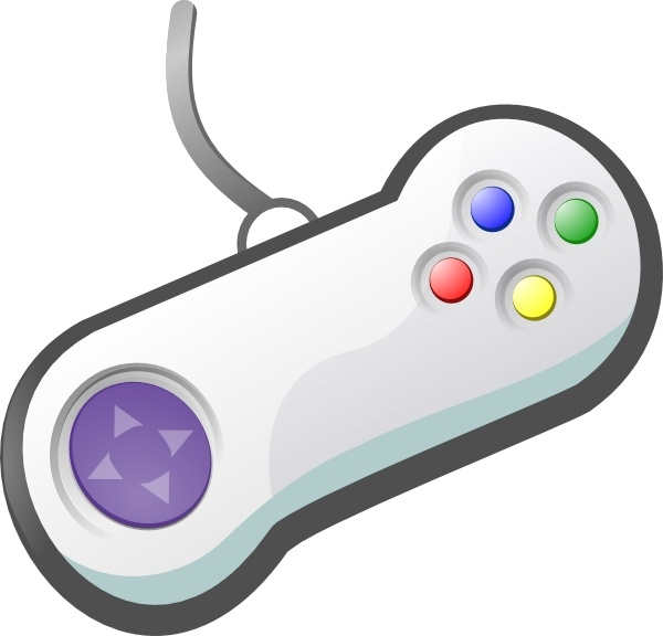 Gamepad clip art Free vector in Open office drawing svg ( .svg.