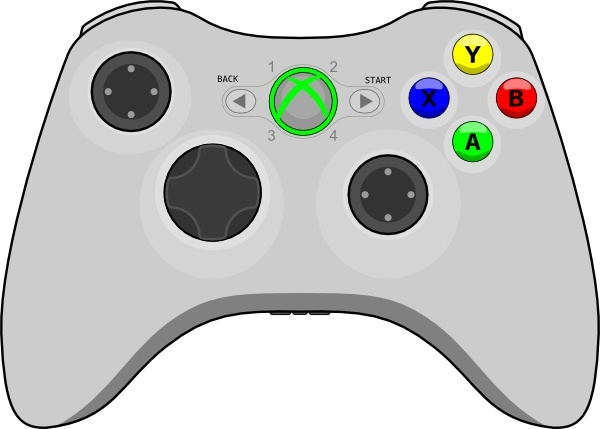 Xbox Gamepad clip art Free vector in Open office drawing svg.