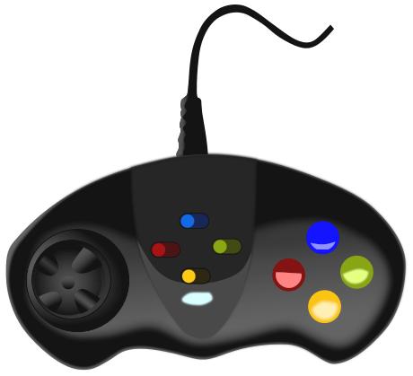 Clip Art Computer Game Pad.