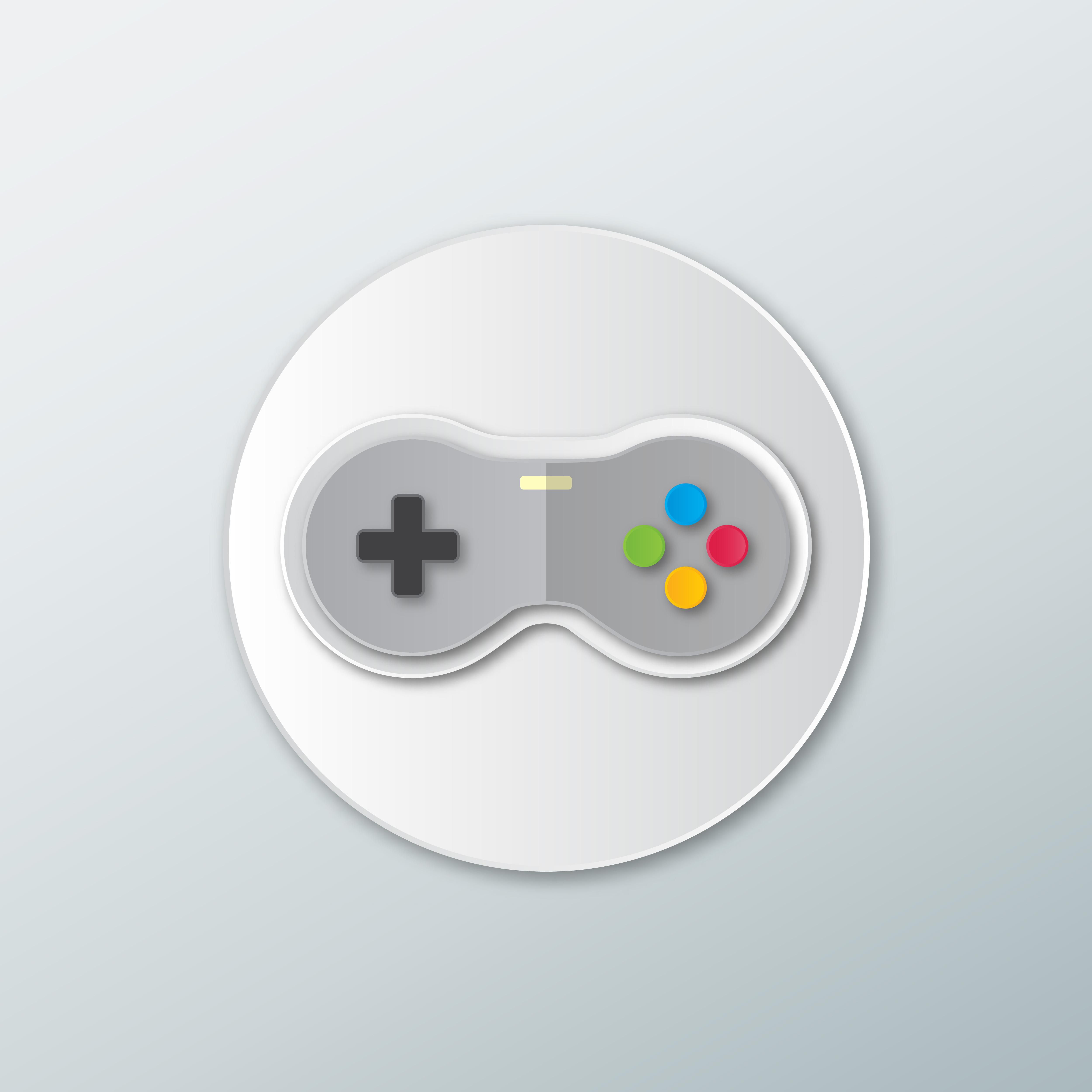 icon joystick for games .Gamepad..
