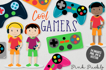 Gamer Clipart and Vectors.
