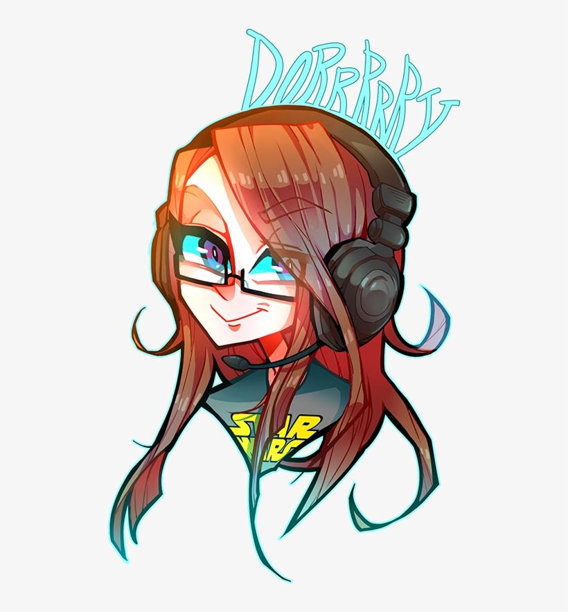 Gamer Girl Png.