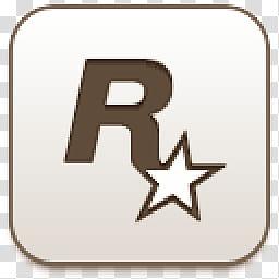 Albook extended sepia , Rockstar games logo transparent.