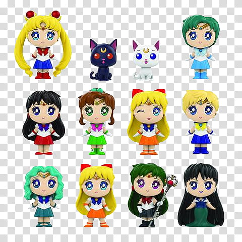 GameStop Exclusive Sailor Moon Mystery Minis transparent.